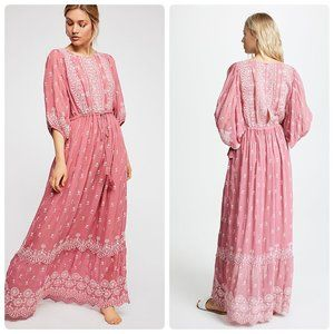 NWT LoveShackFancy Cecily Dress - Tea Rose Pink
